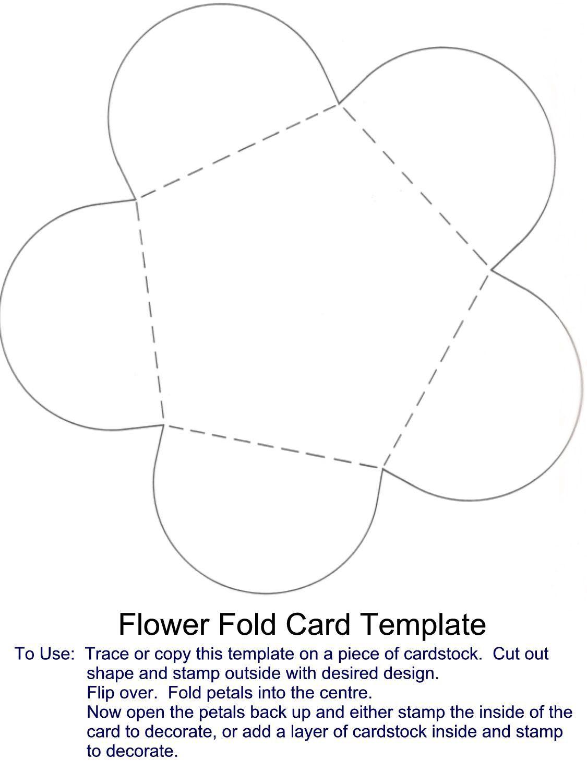 Flower Fold Card Template Fancy Fold Cards Folded Cards Creative Cards
