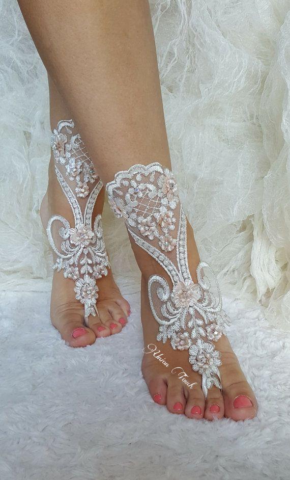 750a6cb50ffa0 5 pairs Free Ship Beach wedding barefoot sandals Beach shoes