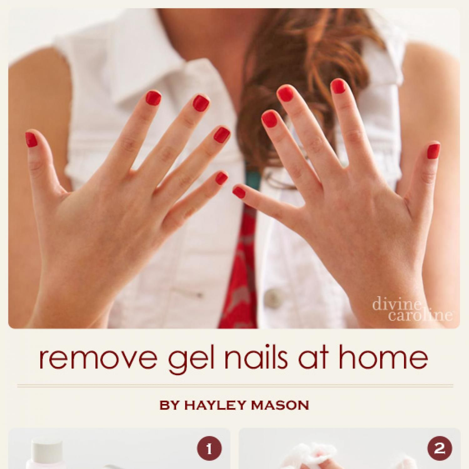 Here at the divinecaroline offices we love a good gel polish how to remove gel nails at home without killing your nails just tried this w nailpolish remover w acetone on one hand and it does work but takes longer solutioingenieria Choice Image