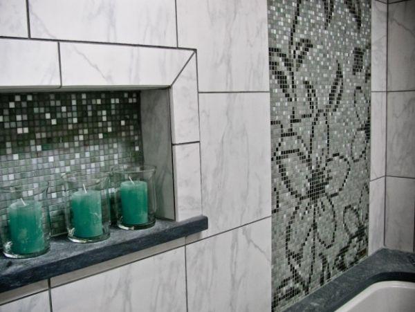 Delicieux Mosaik Fliesen Fürs Badezimmer   65 Ideen Für Die Muster Und Verlegearten
