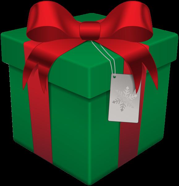 Christmas Gift Box Green Transparent PNG Clip Art Papel