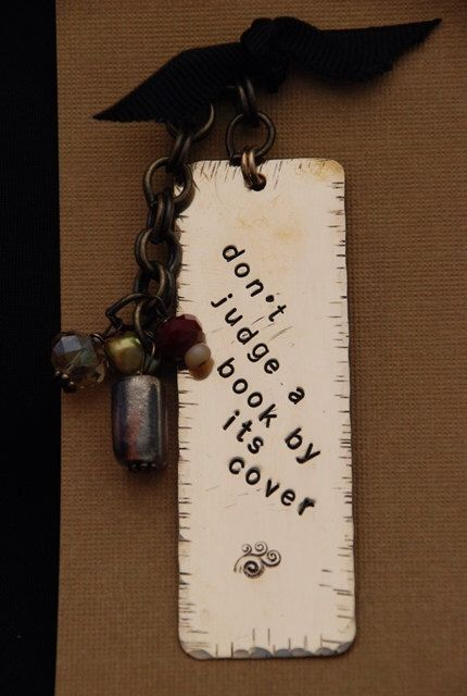 A personal favorite from my Etsy shop https://www.etsy.com/listing/108822164/copper-stamped-metal-bookmark