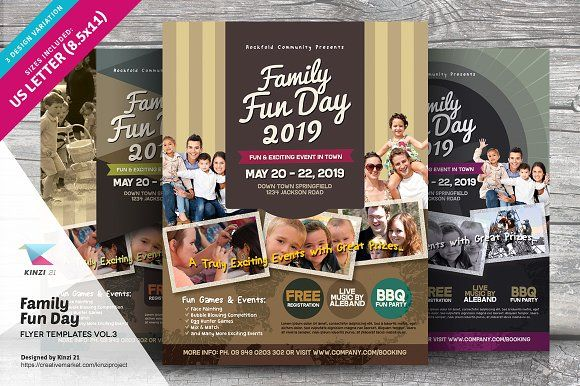 Family Fun Day Flyers Vol Template And Flyer Template - Fun day flyer template free