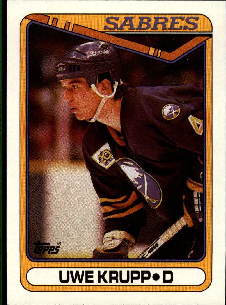 199091 Topps 390 Uwe Krupp Sport hockey, Sports