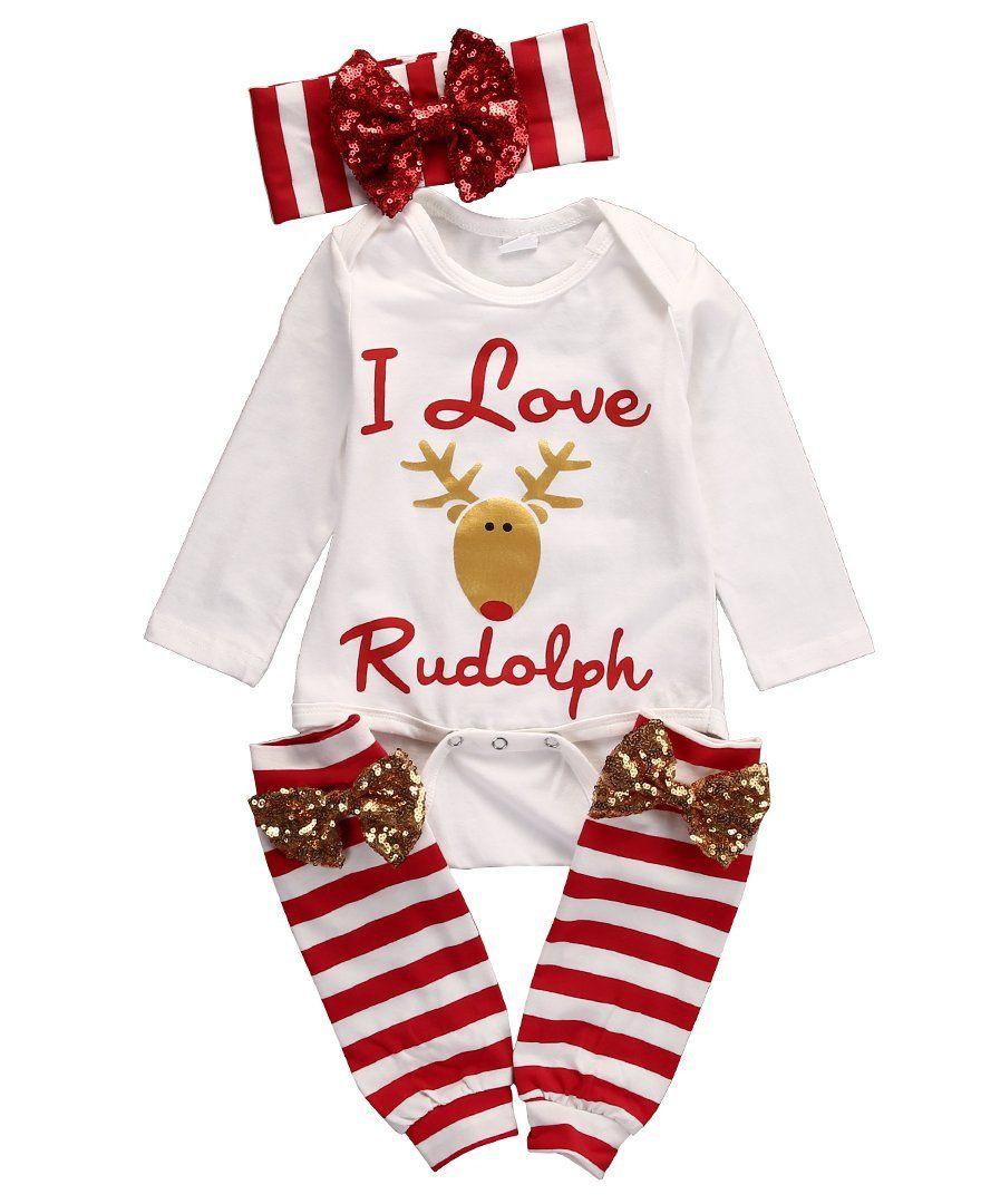 Super Cute Babies Xmas Clothing Set Toddler Baby Infant Boys Girls ...
