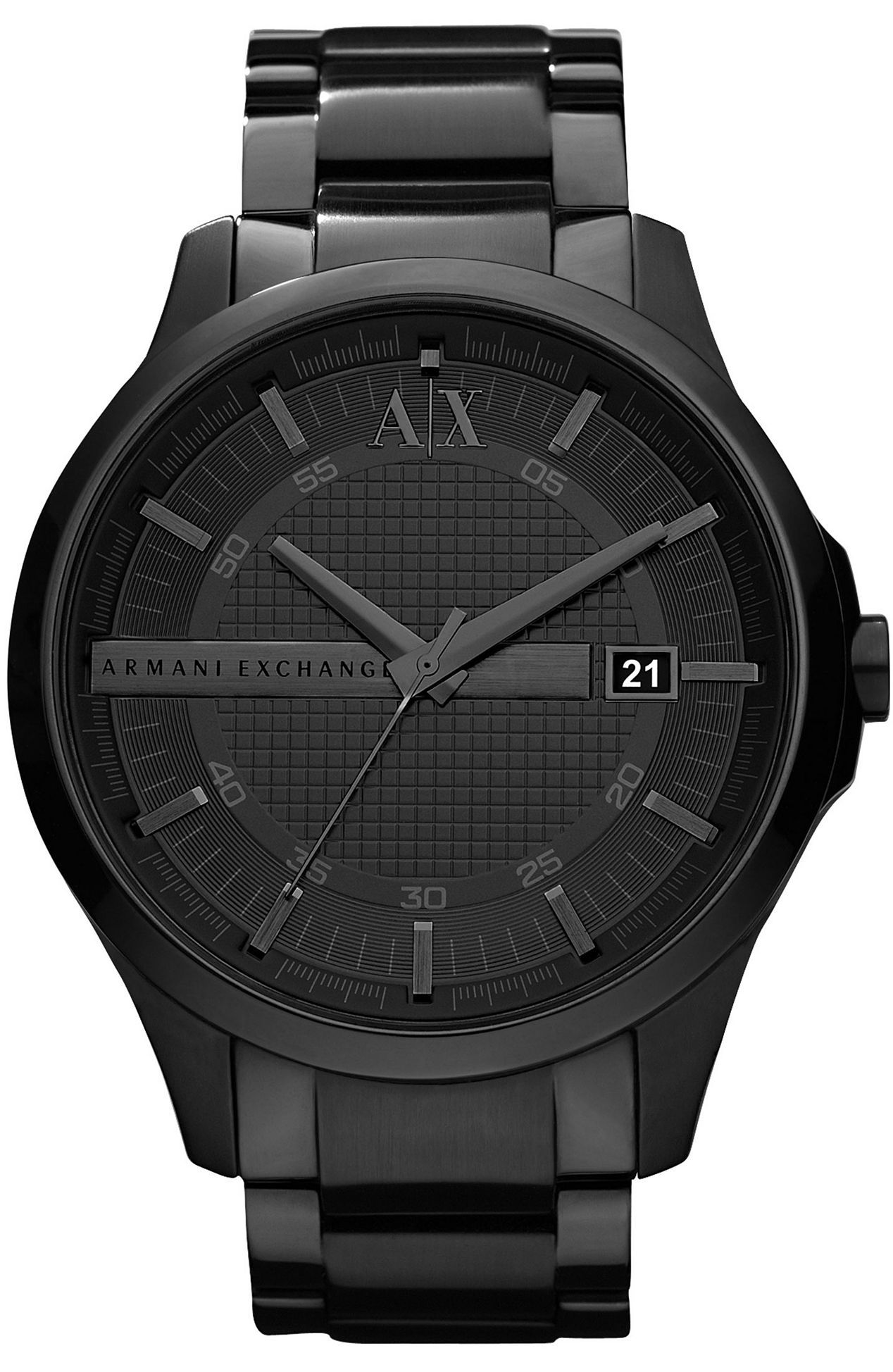 c70a0b2fcfb9 Armani Exchange - Black Steel Watch Relojes Armani