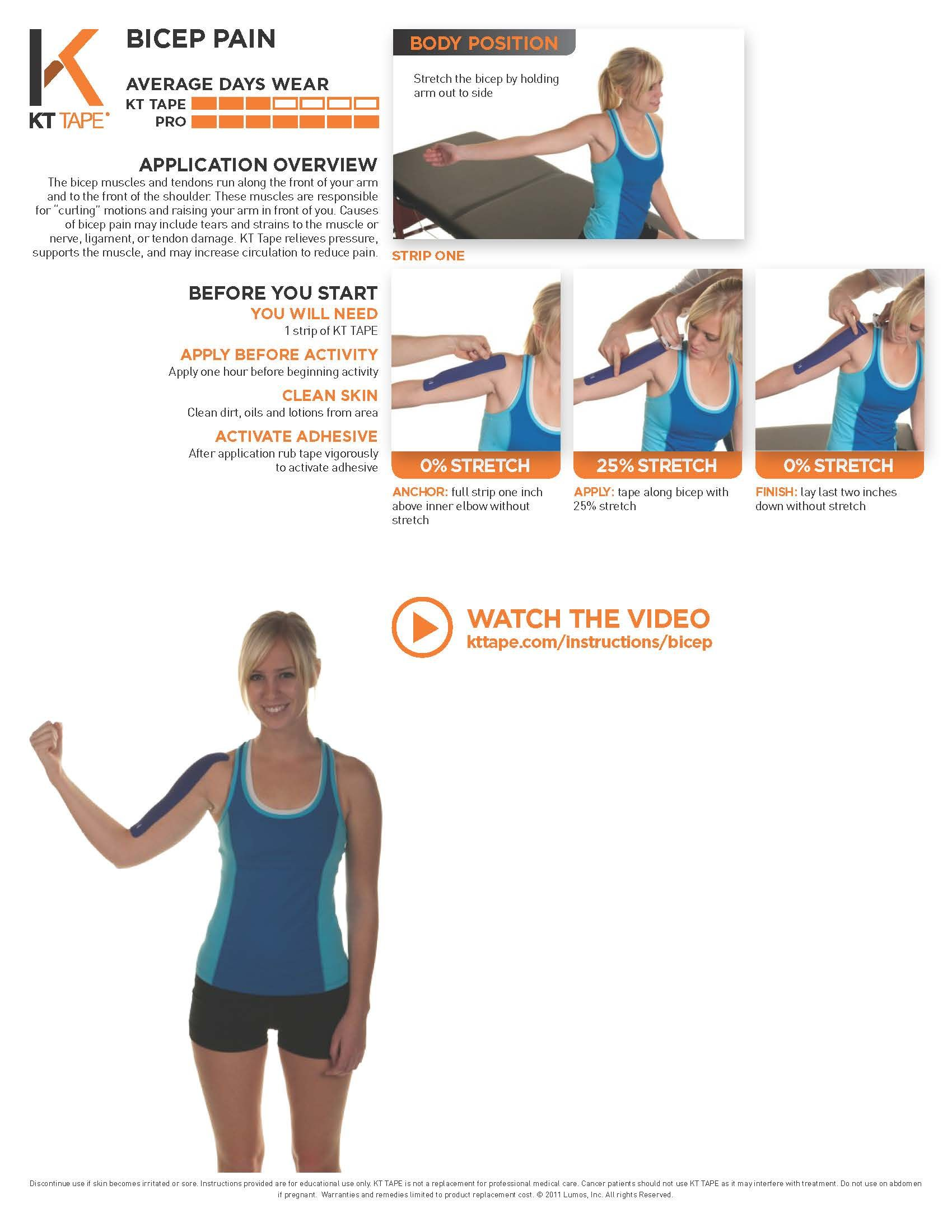 Printable Taping Instructions Health Pinterest Muscles