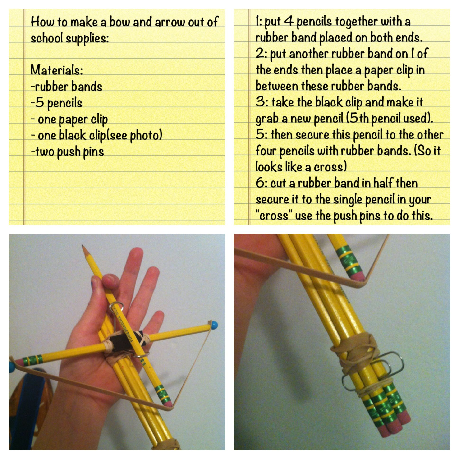 how to make arrows for a bow and arrow
