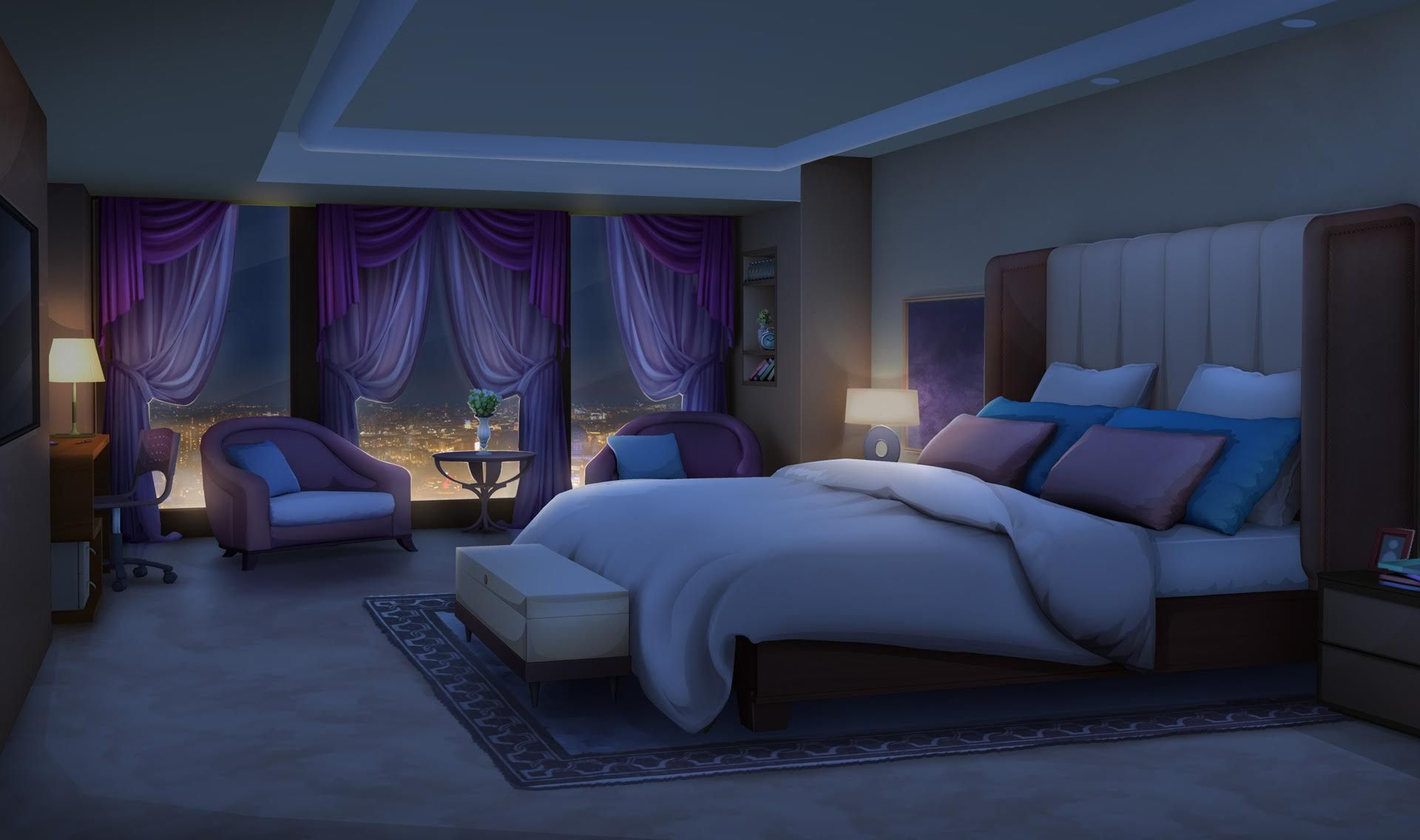 Anime Background Bedroom Dark