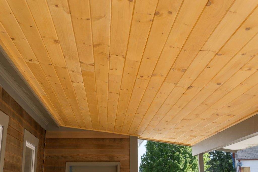 Tongue Groove Porch Ceiling Porch Ceiling House In The Woods Ceiling