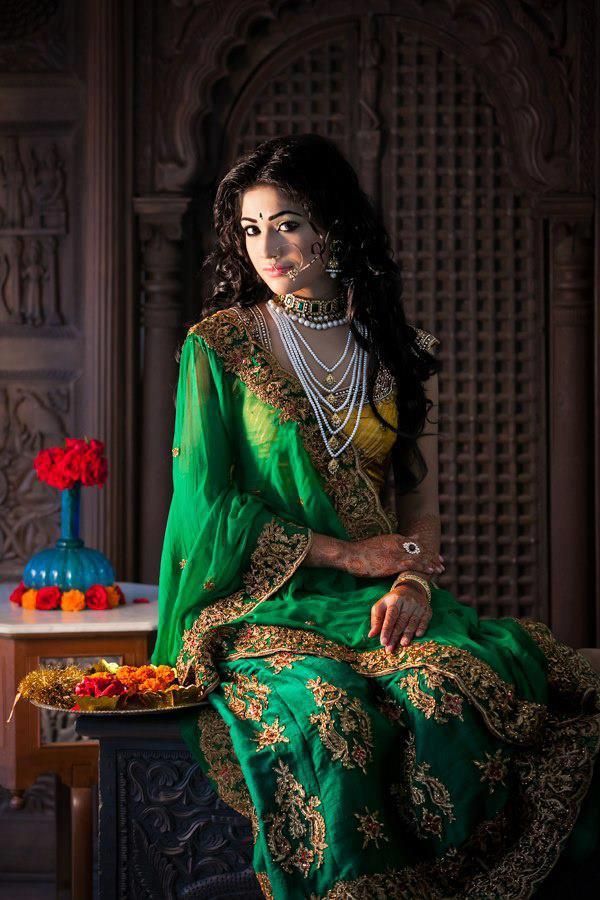 fbd53c44895 A dream in green and yellow  lehengadesigns  indianlehenga   bridallehngacholi