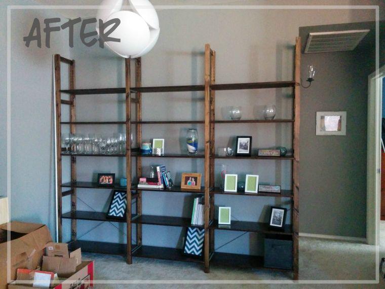 Ikea Küchenbrett ~ Ikea ivar hack industrial shelving unit furniture builds