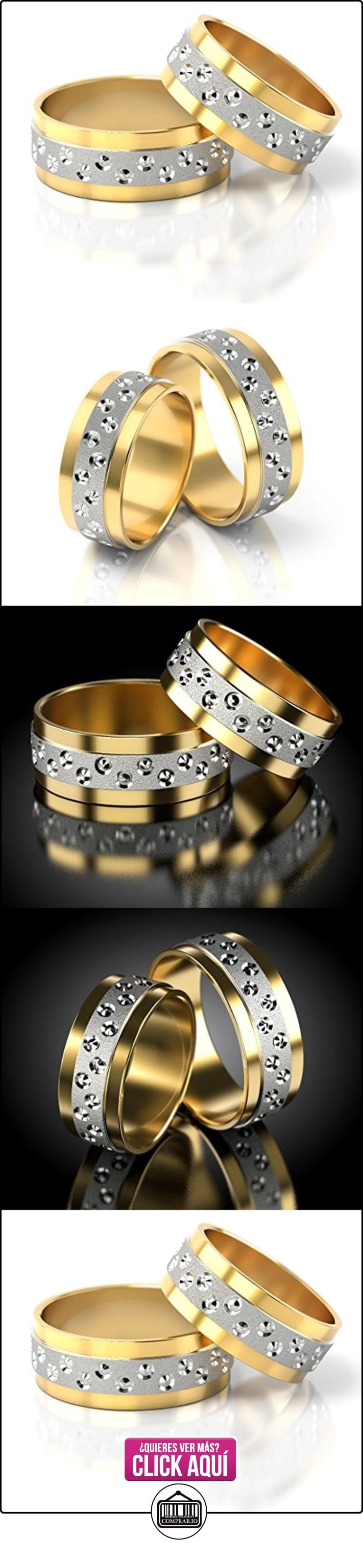 Anillos De Boda Oro Blanco / Oro amarillo 750_PD155_S-851  ✿ Joyas para hombres especiales - lujo ✿ ▬► Ver oferta: http://comprar.io/goto/B01DOQ02H2