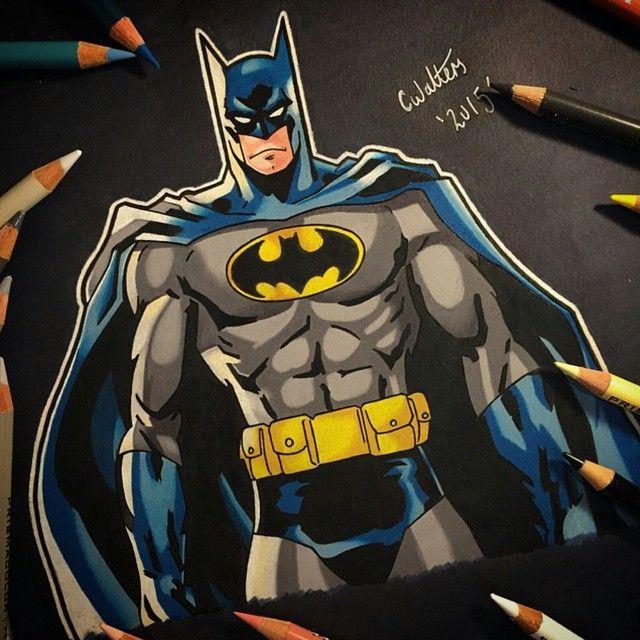"""Batman! Colored Pencil Drawing By @coreymayne"