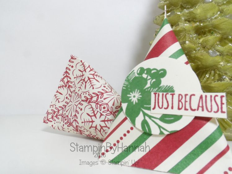 Christmas Countdown   Mini Chocolate Sour Cream Packets – Using This Christmas from Stampin' Up! UK