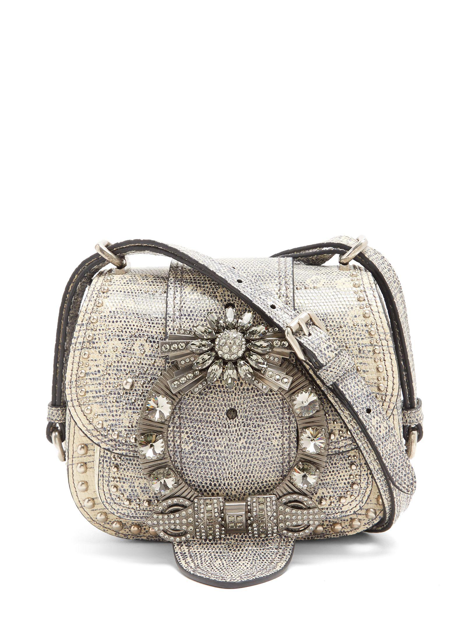 089d9cb152dc MIU MIU Dahlia embellished leather cross-body bag