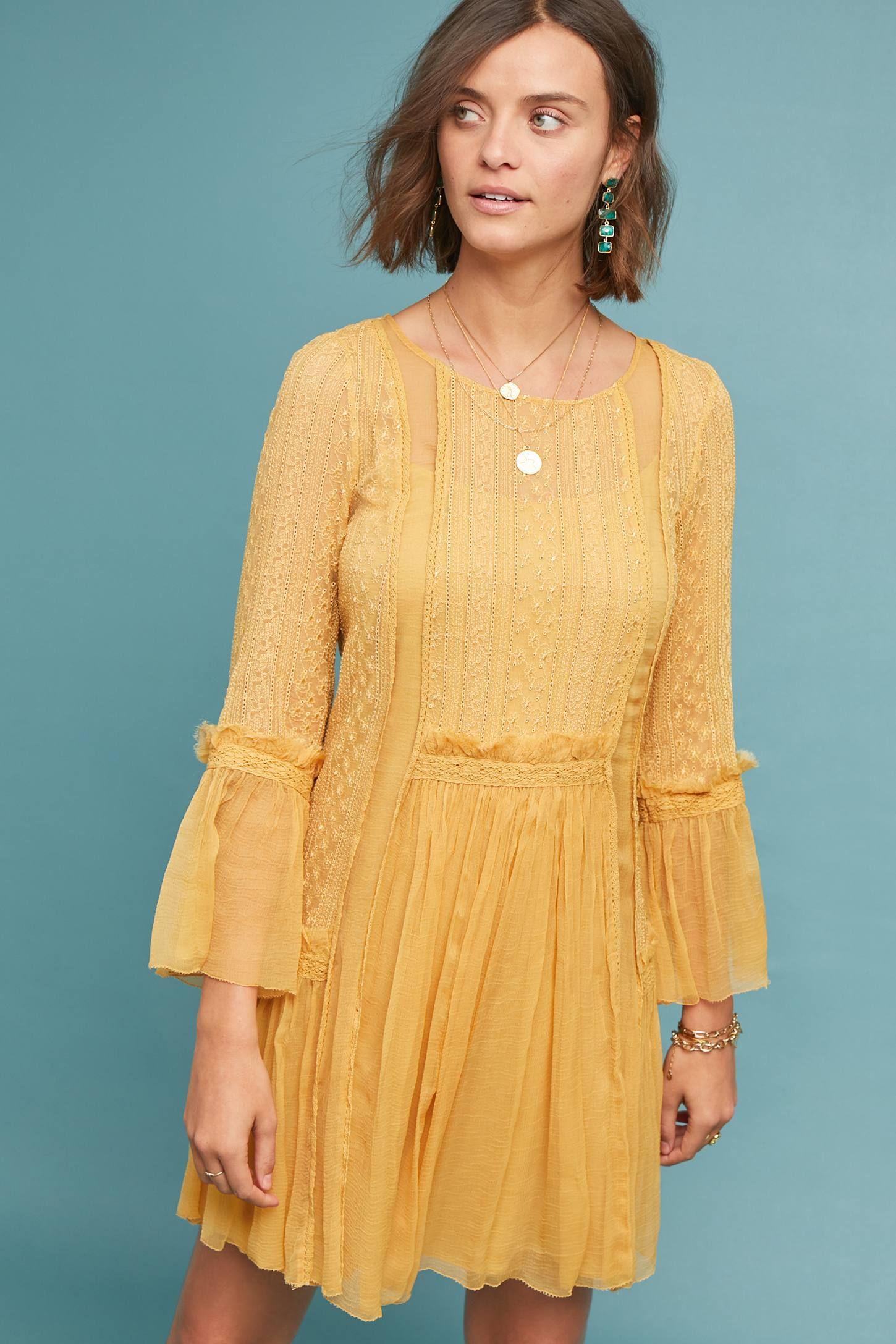 6b13b14f9a6 Senji Tunic Dress in 2019 | My Style | Dresses, Yellow dress summer ...