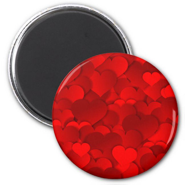 Red Hearts Texture Magnet