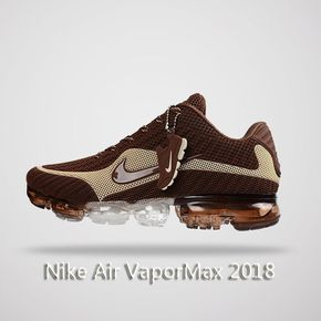 new product 5d475 46acc Nike Air Vapormax 2018 Men Running Shoes Brown Beige