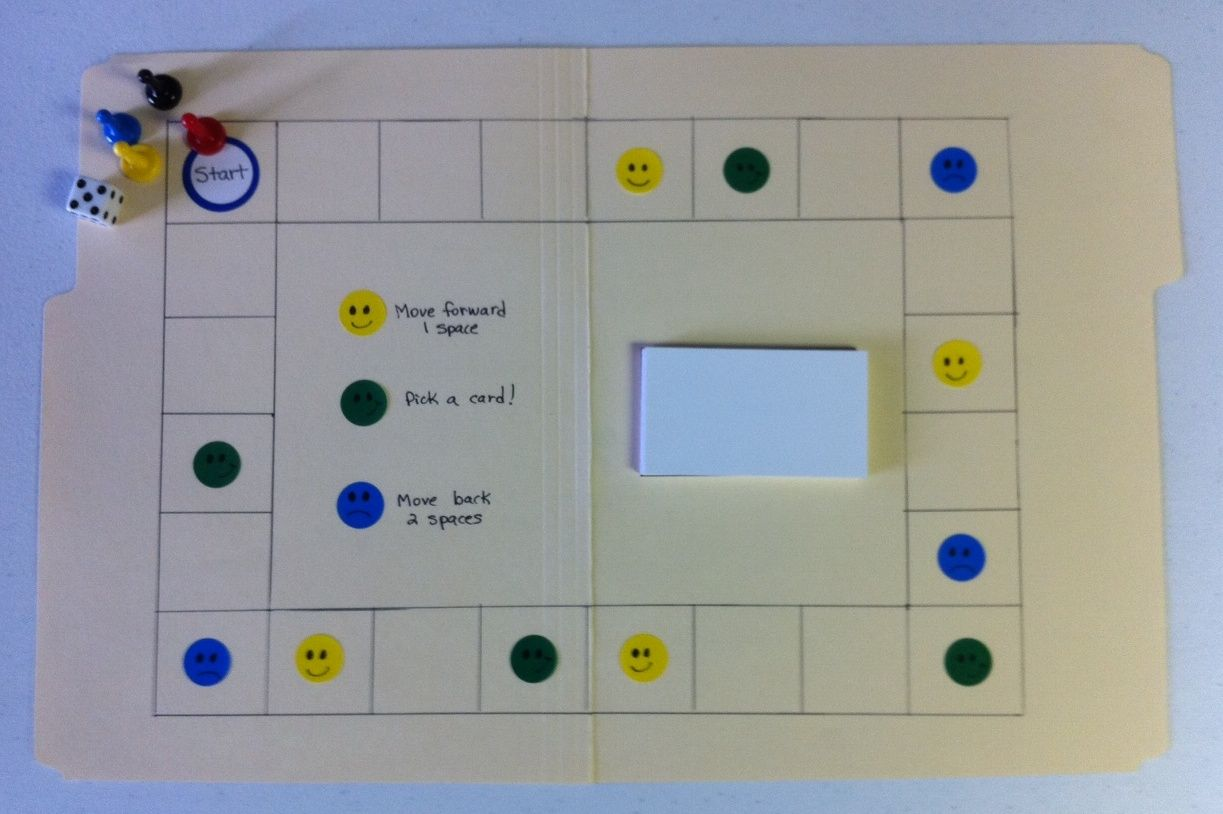 Feelings Board Game Made With A File Folder And Feeling