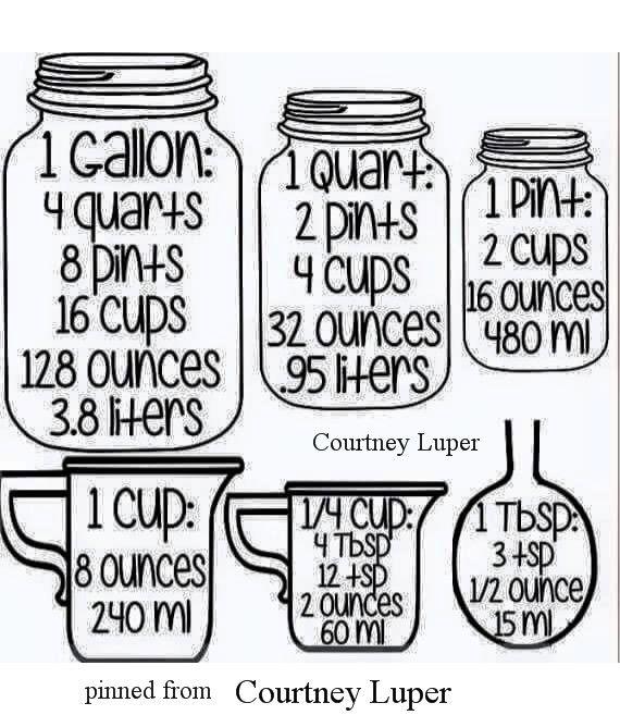 Liquid  Dry Measurements  Infographic  HttpsWwwIPinimgCom