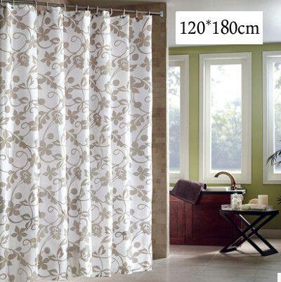 European Style Ivy Landscape Design Waterproof Fabric Shower Curtain