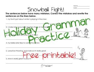 Squarehead teachers snowball fight story grammar worksheet for squarehead teachers snowball fight story grammar worksheet for kids free printable holiday worksheet ccuart Choice Image
