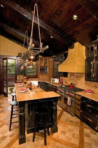 Kitchen lower whitefish lake rustic kitchen minneapolis lands end development designers builders