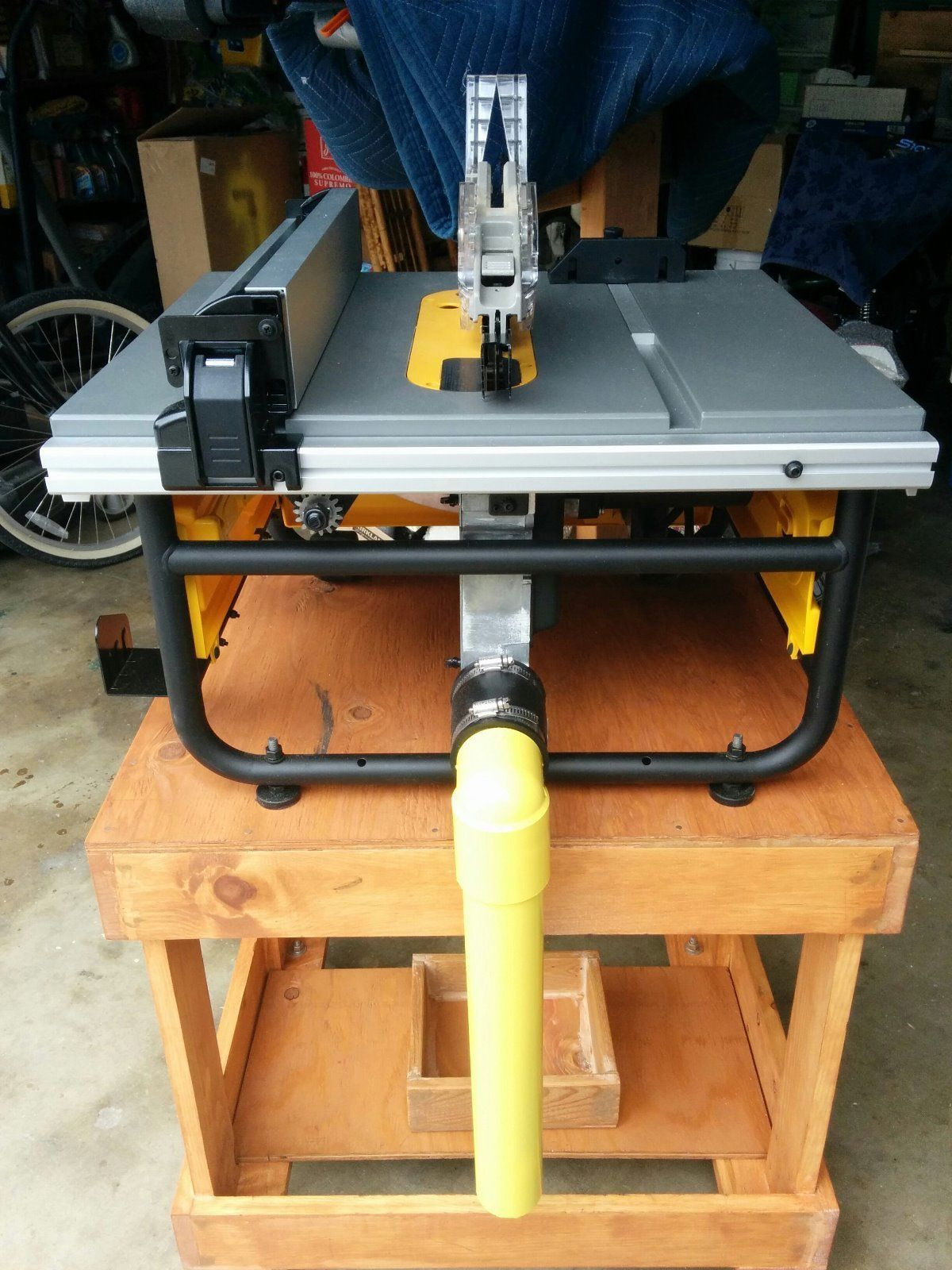Custom Hand Made Dewalt Table Saw Dust Collector Free