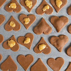 Chocolate Coated Lebkuchen Gingerbread Hearts With Apricot