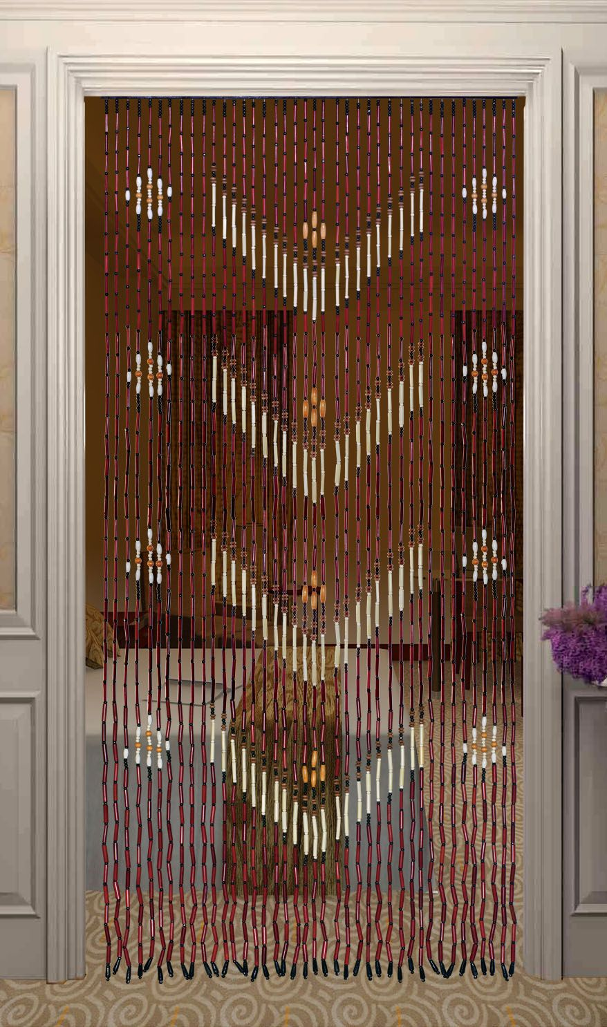 How To Make Creative Spaces Withs Door Bead Curtains Home Trends