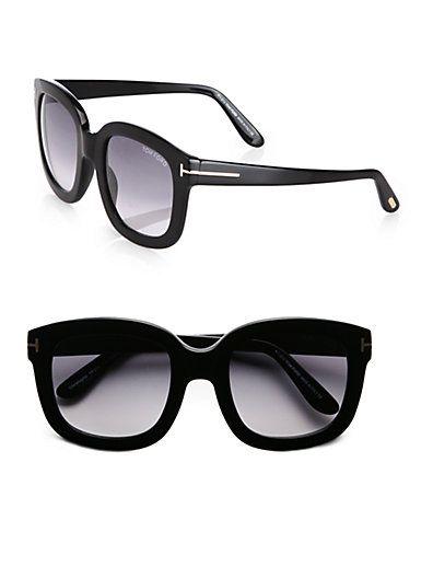c7820b181455d Tom Ford Eyewear - Christophe Square Acetate Sunglasses Black - Saks ...