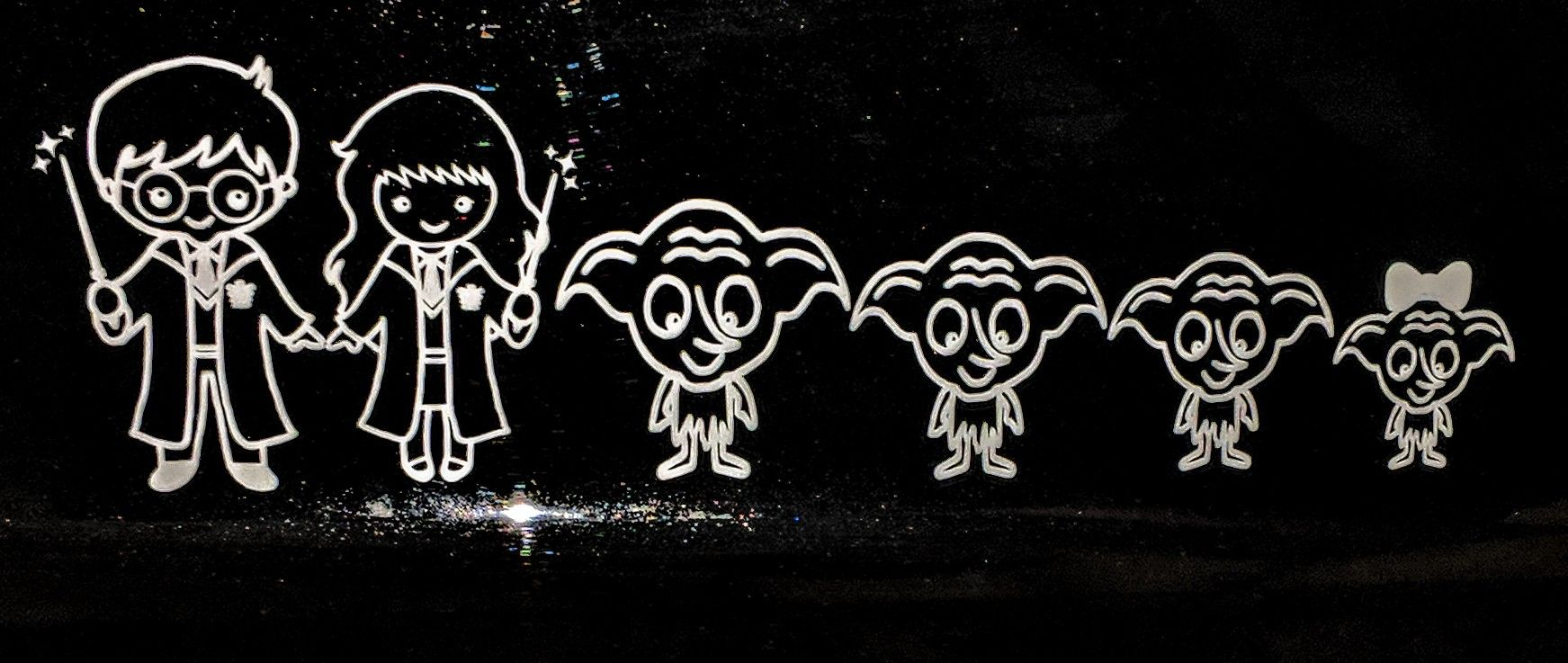 Harry Potter Inspired Family Decals Order From Shanlynn Creations On Etsy At Www Etsy Com Shop Shanlynncreations Family Decals Family Car Decals Vinyl Gifts [ 737 x 1743 Pixel ]
