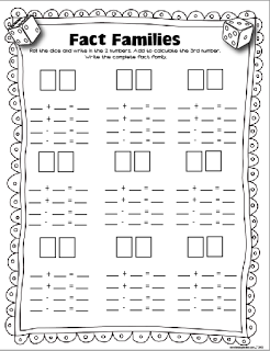 Fact Family Worksheets For 4th Grade: 17 Best images about Fact Families Game   Fact families    ,