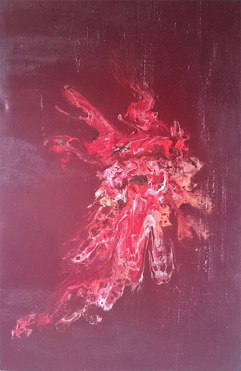 Abstract vision \'Der Phönix No.1\' (2018) (Malerei), 80x120x4 cm von ...