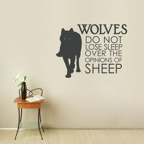 Wolves do not lose sleep wall quote decal typography decal bedroom wall sticker