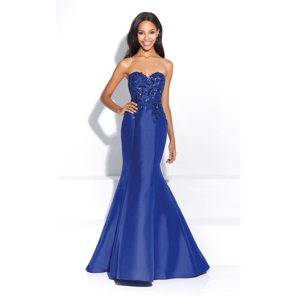 Madison James 17287 Prom Dress 2017 Long Strapless Sleeveless ($438 ...