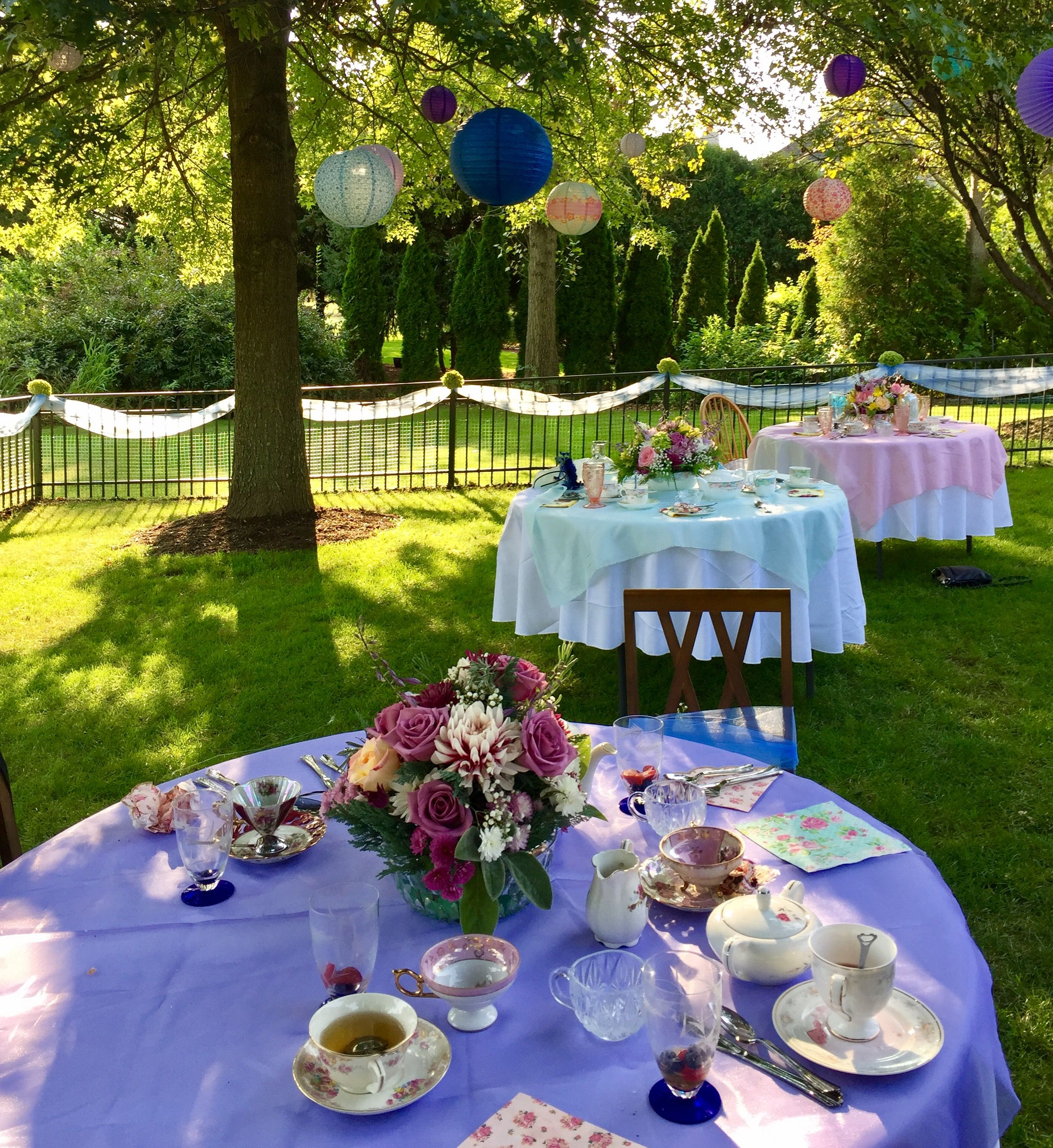 Paper Lanterns And Pastel Tablecloths