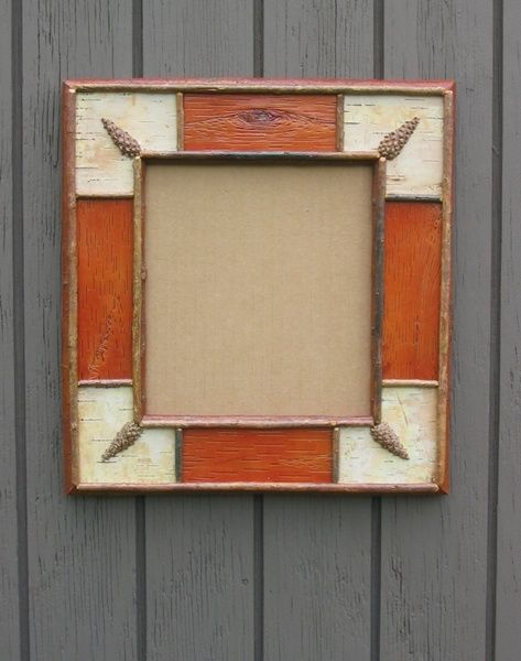 Custom Made White Birch Bark Frame   Crafts   Pinterest   Birch bark ...