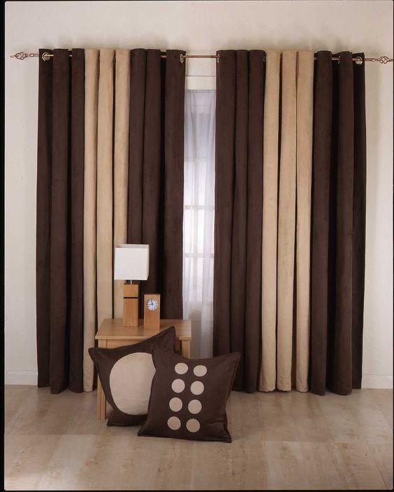 Cortinas De Dos Colores Cortinas Curtains Decoración