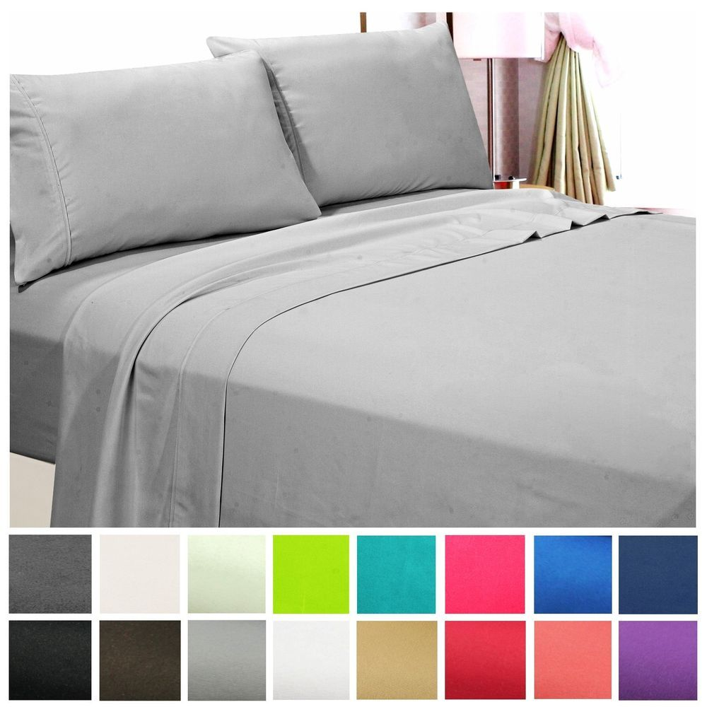 Ordinaire 1800 Count Hotel Quality Deep Pocket 4 Piece Bed Sheet Set Wrinkle Free All  Size | Home U0026 Garden, Bedding, Sheets U0026 Pillowcases | EBay!