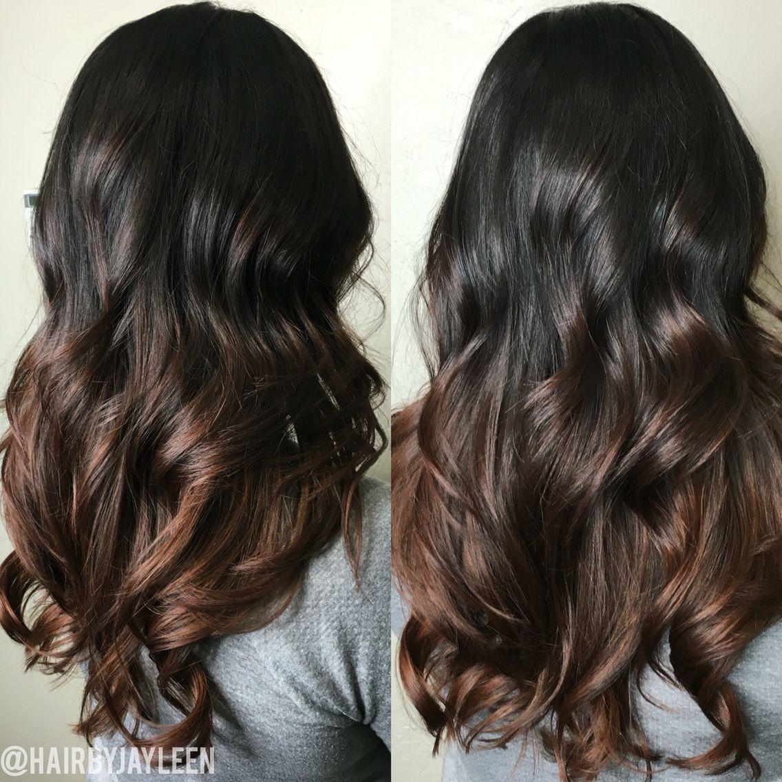 Balayage Dark Hair Chocolate Brown Hair Ombr Brunette