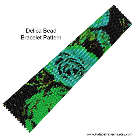 Bracelet Beading Weaving Pattern Peyote Stitch by PalacePatterns