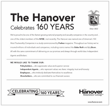 Congratulations To One Of Our Company Partners The Hanover