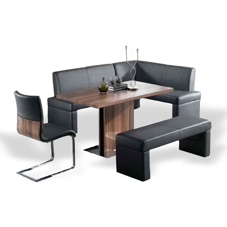 Armen Living LCZEDIWA Zenith Dining Table in Walnut/Stainless Steel ...
