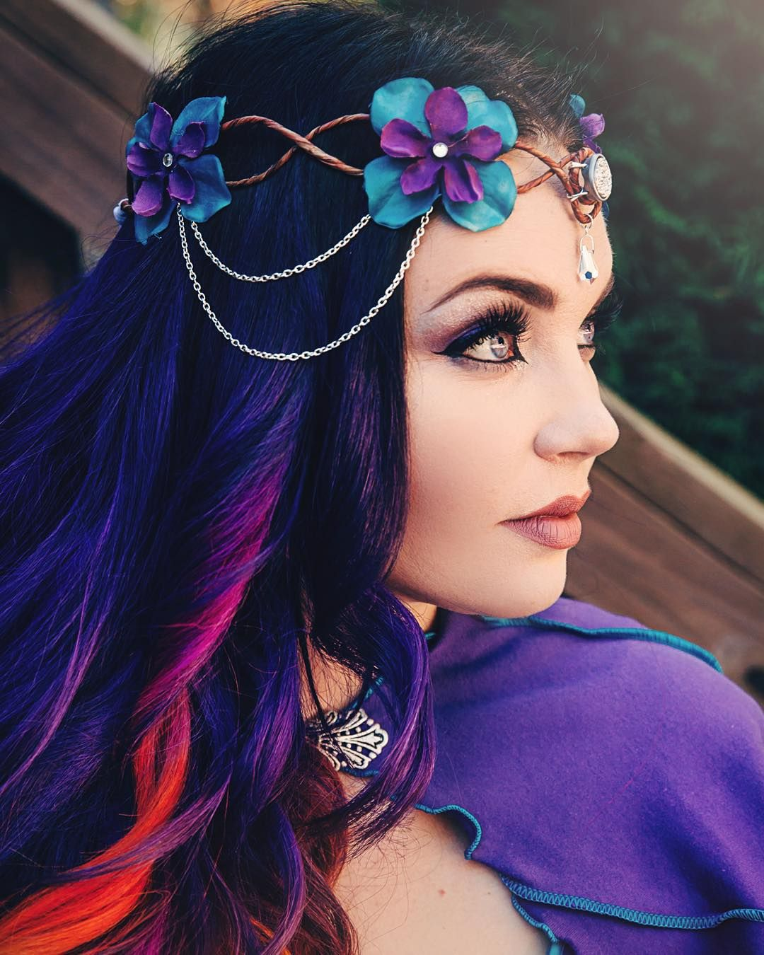 Fairy Hair And Makeup: Purple Fairy Costume And Makeup In 2019