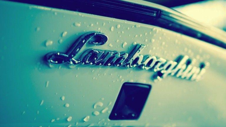 Lamborghini logo background wallpaper.