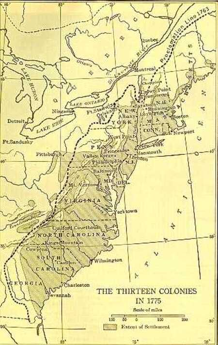 Map of the original 13 colonies  Maps  Pinterest