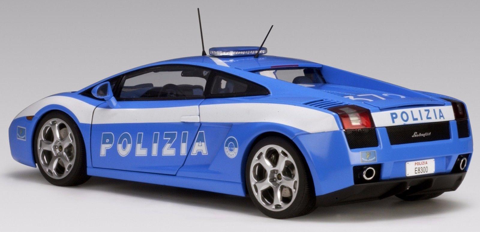 Transformer Autoart 118 Lamborghini Gallardo Police Car Italy