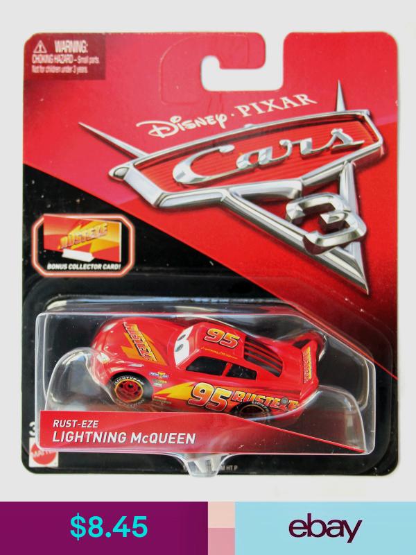 Disney Pixar Cars 3 Rust Eze Lightning Mcqueen With Collector Card And Stand Disney Pixar Cars Pixar Cars Lightning Mcqueen